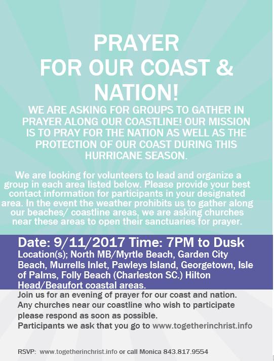 prayer for coast